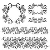 Vector set of borders, decorative elements. Vector set of borders, decorative elements for design, print, embroidery Stock Photo