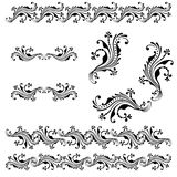 Vector set of borders, decorative elements. Vector set of borders, decorative elements for design, print, embroidery Stock Photography