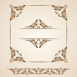 Vector set of borders, decorative elements. Royalty Free Stock Photography