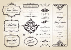 Vector Set of Borders, Frames and Page Dividers Stock Photo