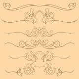 Vector set of borders. Hand drawing Royalty Free Stock Photo