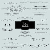 Vector set of borders in vintage style Royalty Free Stock Photos