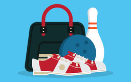 Vector set of bowling icons Stock Photos