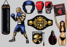 Set of boxing Royalty Free Stock Photo