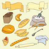 Vector set on the Bread theme Stock Image