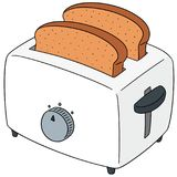 Vector set of bread and toaster. Hand drawn cartoon, doodle illustration vector illustration