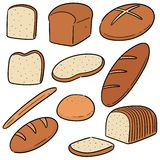 Vector set of bread. Hand drawn cartoon, doodle illustration stock illustration