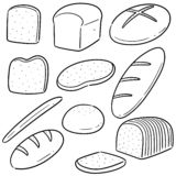 Vector set of bread. Hand drawn cartoon, doodle illustration vector illustration