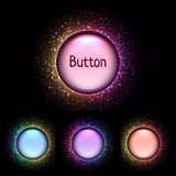 Vector set of bright color shiny buttons Royalty Free Stock Photo
