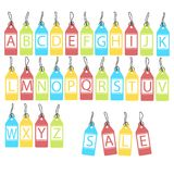 Vector set of bright different letters. abstract alphabet. Vector set of bright different letters, abstract alphabet Stock Photo
