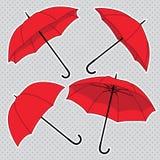 Vector set with bright umbrellas Stock Image