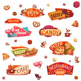 Vector set of brightly banners for market, shop Royalty Free Stock Images