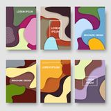 Vector modern color abstract background brochure templates set. Vector set of brochure design templates. Modern color abstract backgrounds Royalty Free Stock Images