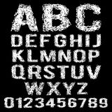 Vector set of broken white alphabet. Set of broken white alphabet Stock Photography