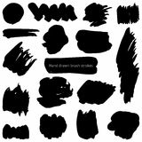 Vector set of brush strokes Stock Photo