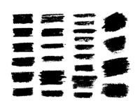 Vector set of brush strokes stock photography