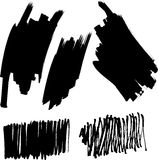 Vector set of brushes Royalty Free Stock Images
