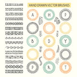 Vector set of brushes with outer and inner corner tiles Stock Image