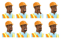 Vector set of builder characters. Royalty Free Stock Photos