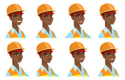 Vector set of builder characters. Stock Image