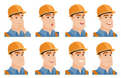 Vector set of builder characters. Stock Photos