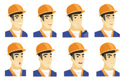 Vector set of builder characters. Stock Photography