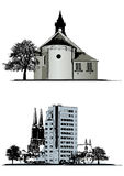 Vector set of buildings Stock Images