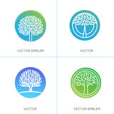 Vector set of business and abstract emblems Royalty Free Stock Photography