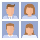 Vector set of business avatars Stock Photo