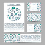 Vector set business card templates dental clinic. Stock Photography