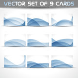 Vector set of business cards Stock Photo