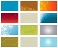 Vector set of business cards... Royalty Free Stock Image