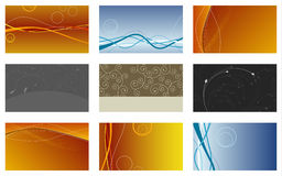 Vector set of business cards... Stock Images