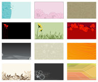 Vector set of business cards... Royalty Free Stock Photos