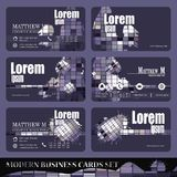 Vector Set of business cards Stock Photography