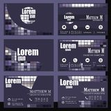 Vector Set of business cards Stock Image
