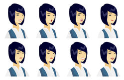 Vector set of business characters. Royalty Free Stock Photography