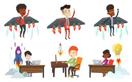 Vector set of business characters. Stock Photos