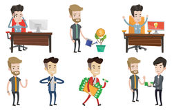 Vector set of business characters. Stock Photo
