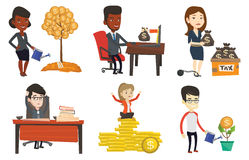 Vector set of business characters. Stock Image