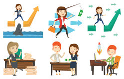 Vector set of business characters. Royalty Free Stock Images