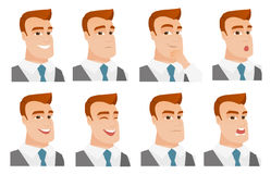 Vector set of business characters. Royalty Free Stock Photo