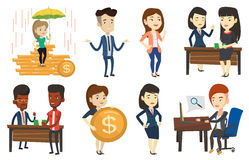 Vector set of business characters. Stock Images