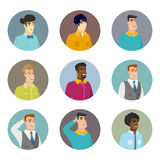 Vector set of business characters in the circle. Stock Images