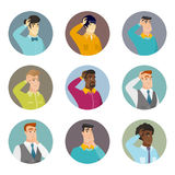 Vector set of business characters in the circle. Stock Image