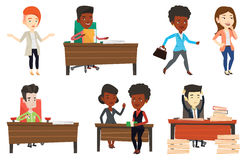 Vector set of business characters. Royalty Free Stock Photos