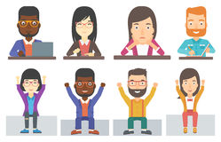 Vector set of business characters. Royalty Free Stock Image