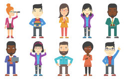 Vector set of business characters. Stock Photography