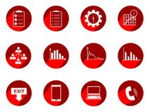 Vector set business or finance  icons with long shadow. Vector Illustration isolated for graphic and web design Royalty Free Stock Photography