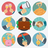 Vector set of business flat icons.  Royalty Free Stock Image